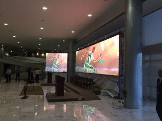 P4 indoor full color rental LED screen Brazilian President's Palace